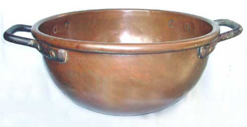 Large hand wrought, heavyweight Copper 'Chocolate pot'