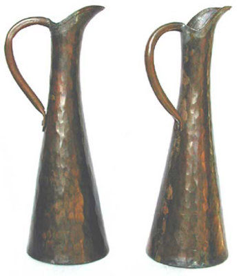 Hand Wrought Plannished Pitchers