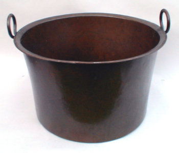 Large Hand Wrought Copper Pot
